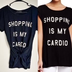 WILDFOX Shopping is My Cardio Graphic Slouchy Tee